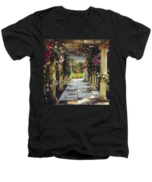 A Gilded Rose Garden  Men's V-Neck T-Shirt