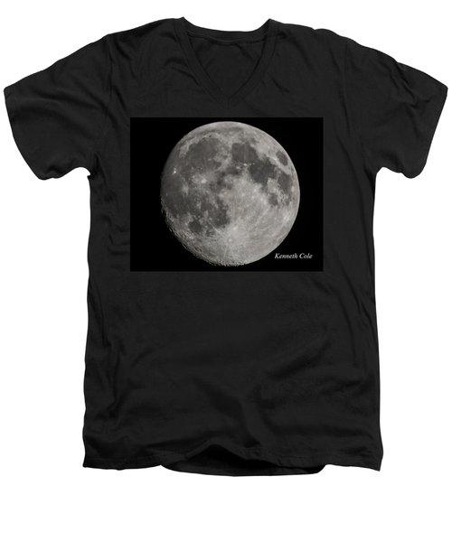 Almost Full Moon Men's V-Neck T-Shirt