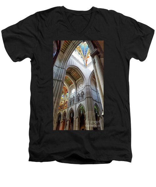 Almudena Cathedral Interior In Madrid Men's V-Neck T-Shirt