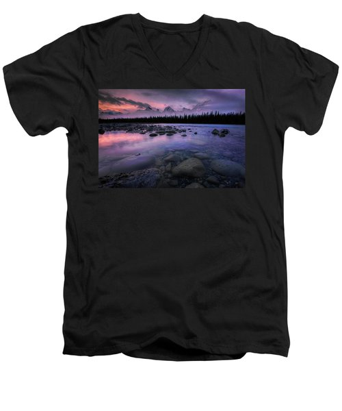 Along The Athabasca Men's V-Neck T-Shirt
