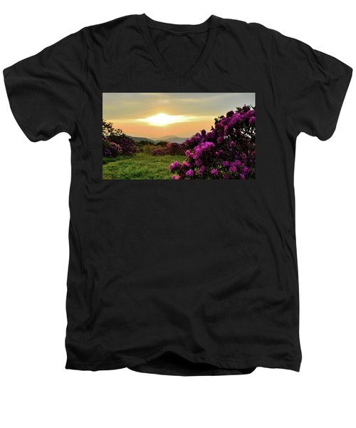 Along The Blue Ridge Men's V-Neck T-Shirt
