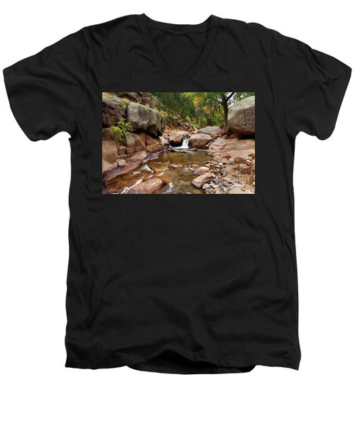 Along The St. Vrain Men's V-Neck T-Shirt
