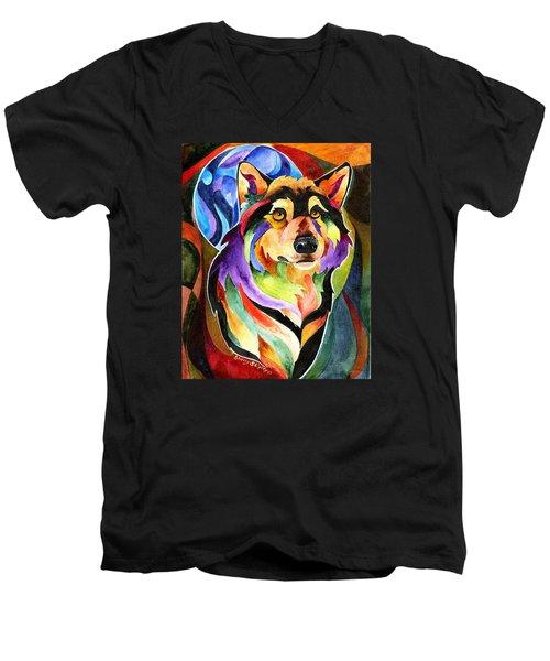 Alpha Moon Men's V-Neck T-Shirt
