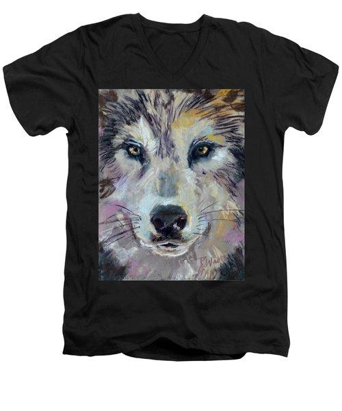 Alpha Men's V-Neck T-Shirt by Pattie Wall