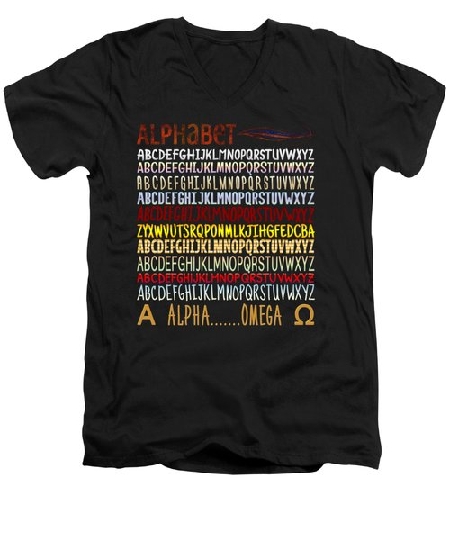 Alphabet Men's V-Neck T-Shirt