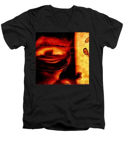 Altered Image In Red Men's V-Neck T-Shirt
