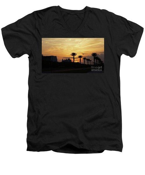 Alys At Sunset Men's V-Neck T-Shirt