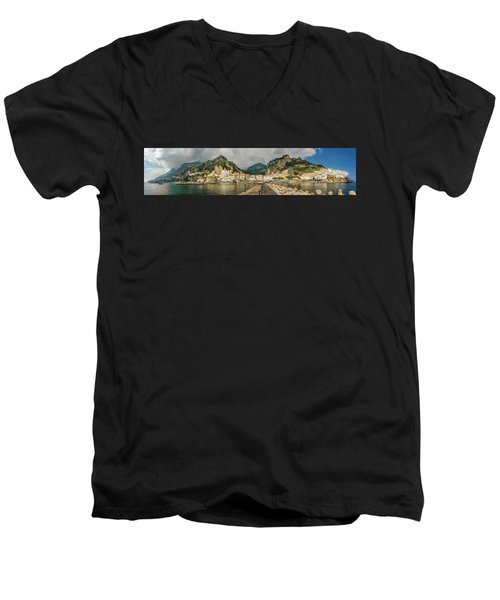 Men's V-Neck T-Shirt featuring the photograph Amalfi by Steven Sparks