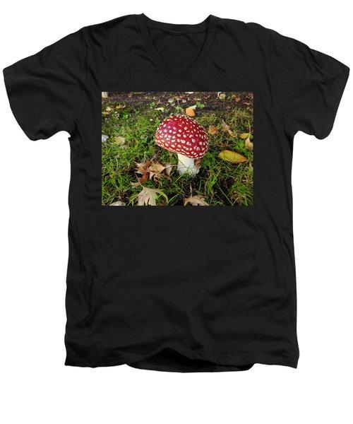Amanita Mascara Men's V-Neck T-Shirt