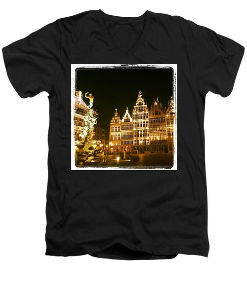 Amazing Romantic Antwerp Men's V-Neck T-Shirt by Chantal Mantovani