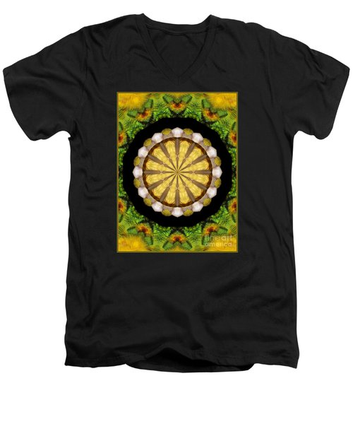 Men's V-Neck T-Shirt featuring the photograph Amazon Kaleidoscope by Debbie Stahre