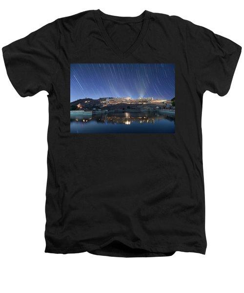 Amber Fort After Sunset Men's V-Neck T-Shirt