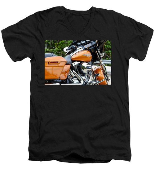 Amber Whiskey Glide Men's V-Neck T-Shirt