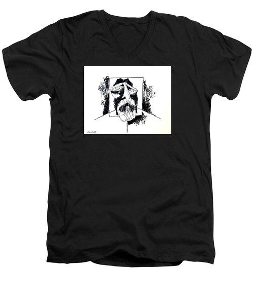 Ameeba 106- Old Man Men's V-Neck T-Shirt