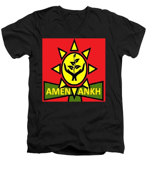 Amen Ankh Sunset Men's V-Neck T-Shirt