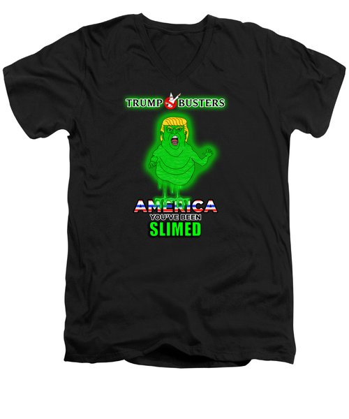 America, You've Been Slimed Men's V-Neck T-Shirt by Sean Corcoran