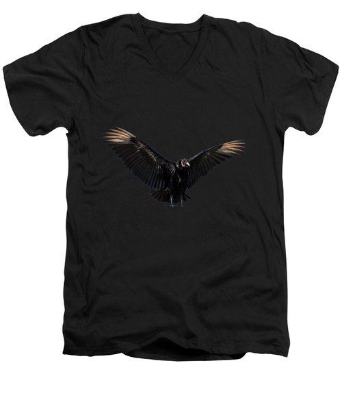 American Black Vulture Men's V-Neck T-Shirt by Zina Stromberg