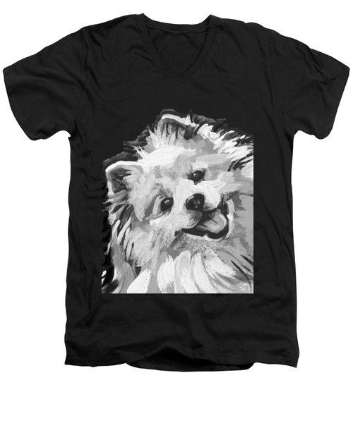 American Eskimo Pooch Men's V-Neck T-Shirt