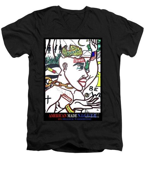 American Made N.i.g.g.e.r. Men's V-Neck T-Shirt