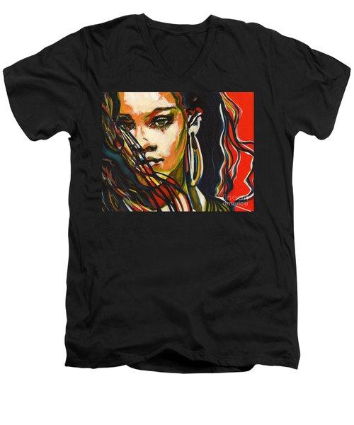 American Oxygen - Rihanna Men's V-Neck T-Shirt