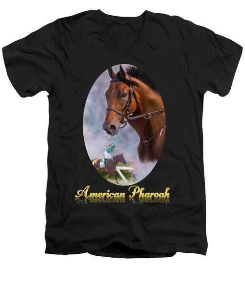American Pharoah Framed Men's V-Neck T-Shirt