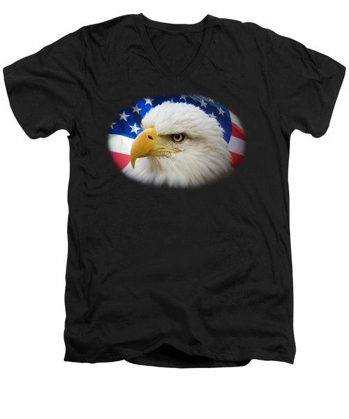 American Pride Men's V-Neck T-Shirt by Shane Bechler