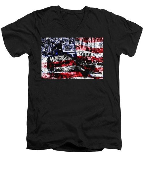 American Rock Crawler Men's V-Neck T-Shirt