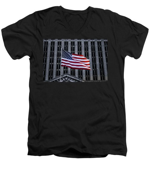 American The Beautiful  Men's V-Neck T-Shirt