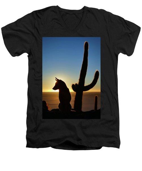 Men's V-Neck T-Shirt featuring the photograph Amigo by Skip Hunt
