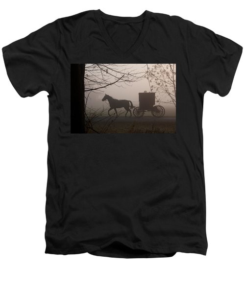 Amish Morning 1 Men's V-Neck T-Shirt