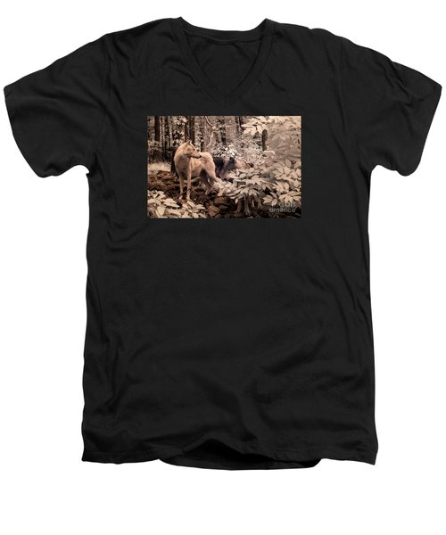 Among Mixed Company Men's V-Neck T-Shirt by William Fields