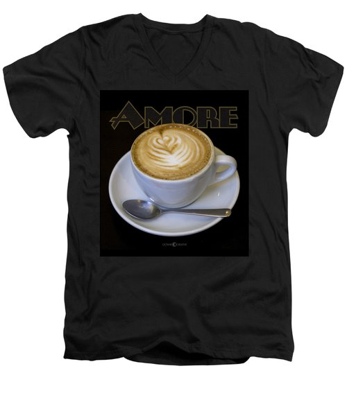 Amore Poster Men's V-Neck T-Shirt