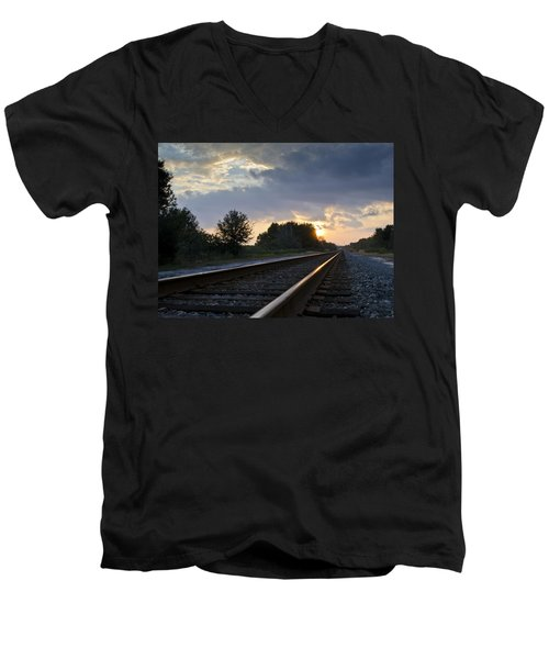 Amtrak Railroad System Men's V-Neck T-Shirt
