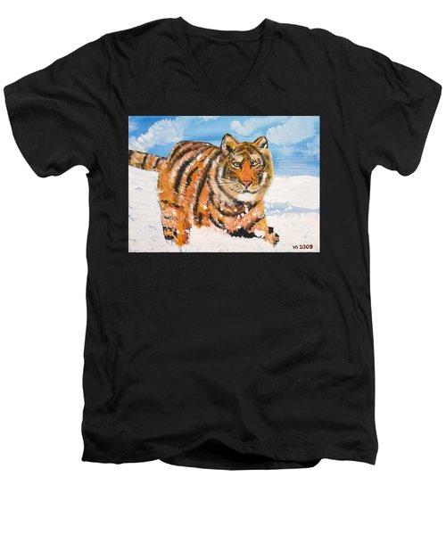 Amur Tiger Men's V-Neck T-Shirt
