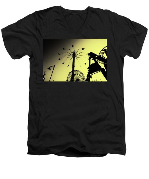 Amusements In Silhouette Men's V-Neck T-Shirt