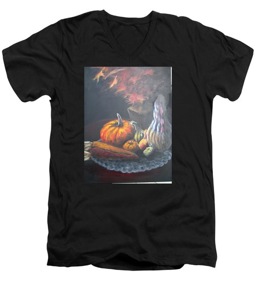 An Autumn Sumphony Men's V-Neck T-Shirt