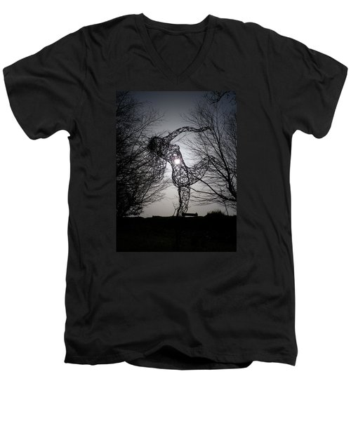 An Eclipse Of The Heart? Men's V-Neck T-Shirt by Richard Brookes