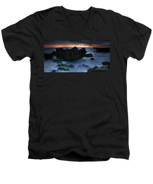 An Escape Men's V-Neck T-Shirt by Kym Clarke