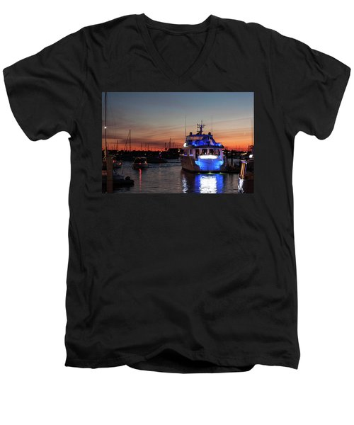 Men's V-Neck T-Shirt featuring the photograph An Evening In Newport Rhode Island II by Suzanne Gaff