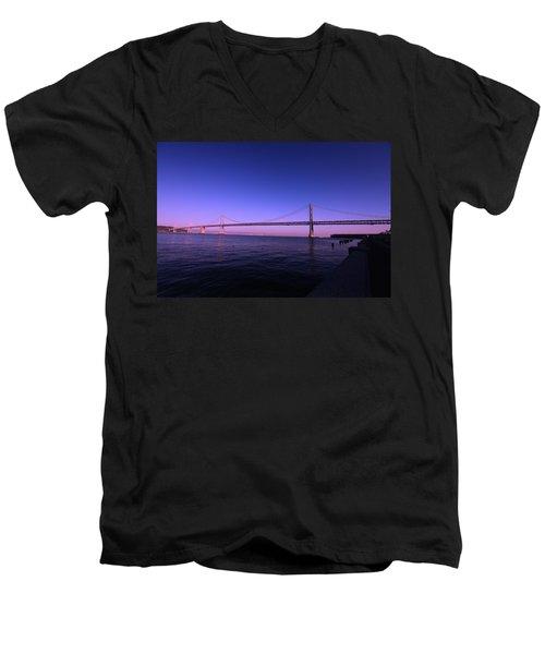 An Evening In San Francisco  Men's V-Neck T-Shirt