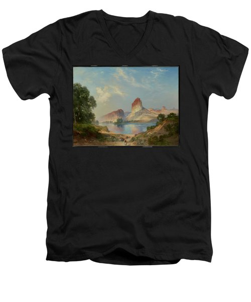 An Indian Paradise , Green River, Wyoming Men's V-Neck T-Shirt