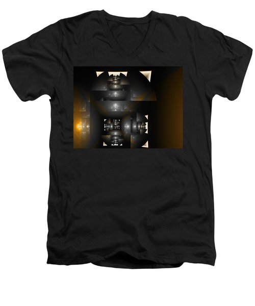 An Interior Space Abstract Men's V-Neck T-Shirt