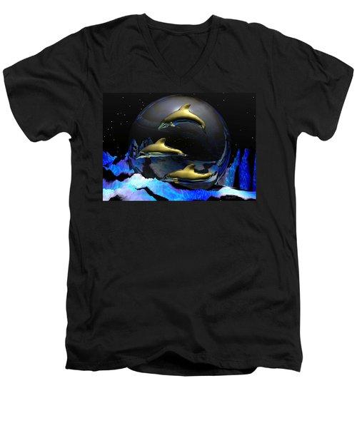 An Ocean Full Of Tears Men's V-Neck T-Shirt by Robert Orinski