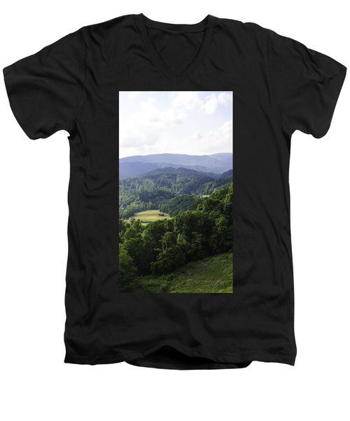 An Old Shack Hidden Away In The Blue Ridge Mountains Men's V-Neck T-Shirt