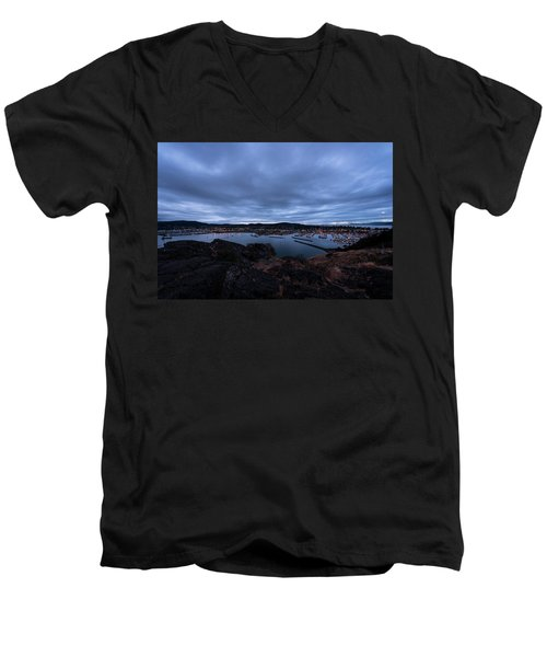 Anacortes  Men's V-Neck T-Shirt by Sabine Edrissi