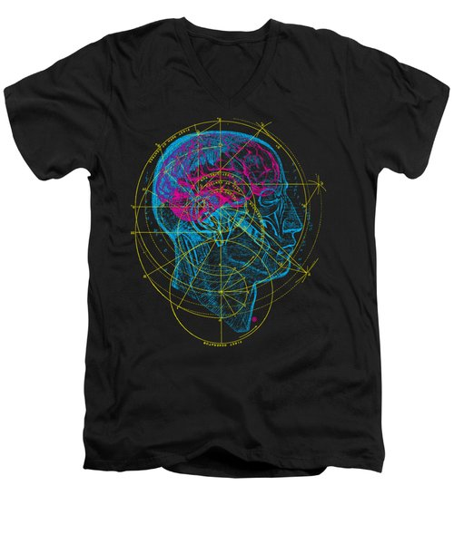Anatomy Brain Men's V-Neck T-Shirt