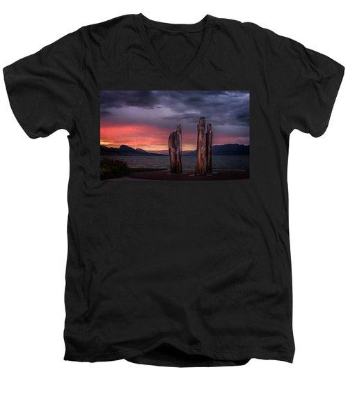Ancestors Men's V-Neck T-Shirt by John Poon