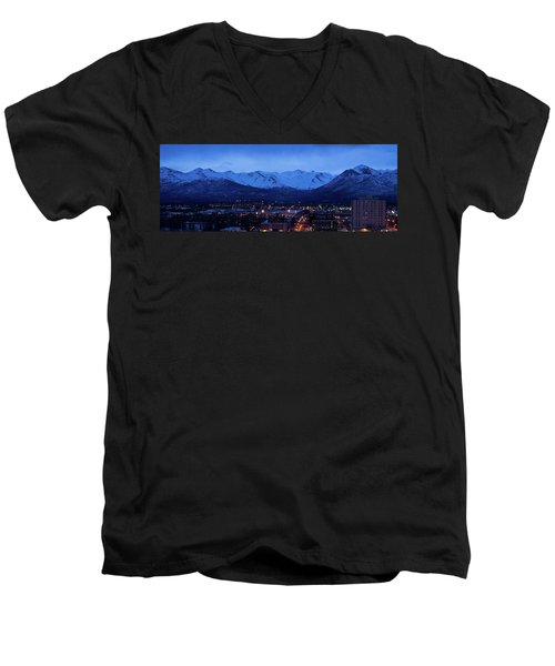 Anchorage At Sunrise Men's V-Neck T-Shirt