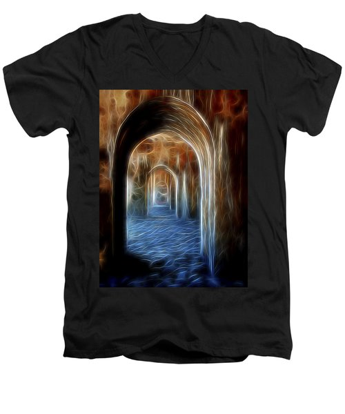 Ancient Doorway 5 Men's V-Neck T-Shirt