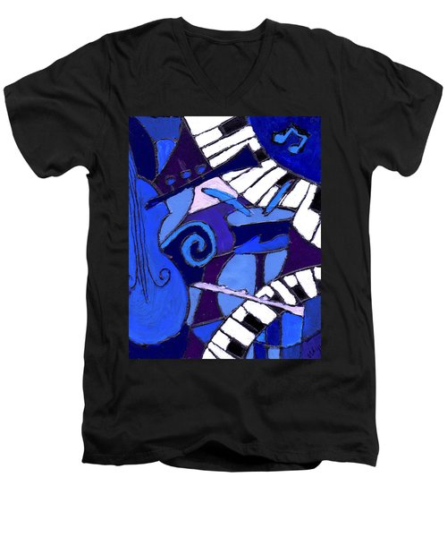 and All that Jazz 3  Men's V-Neck T-Shirt